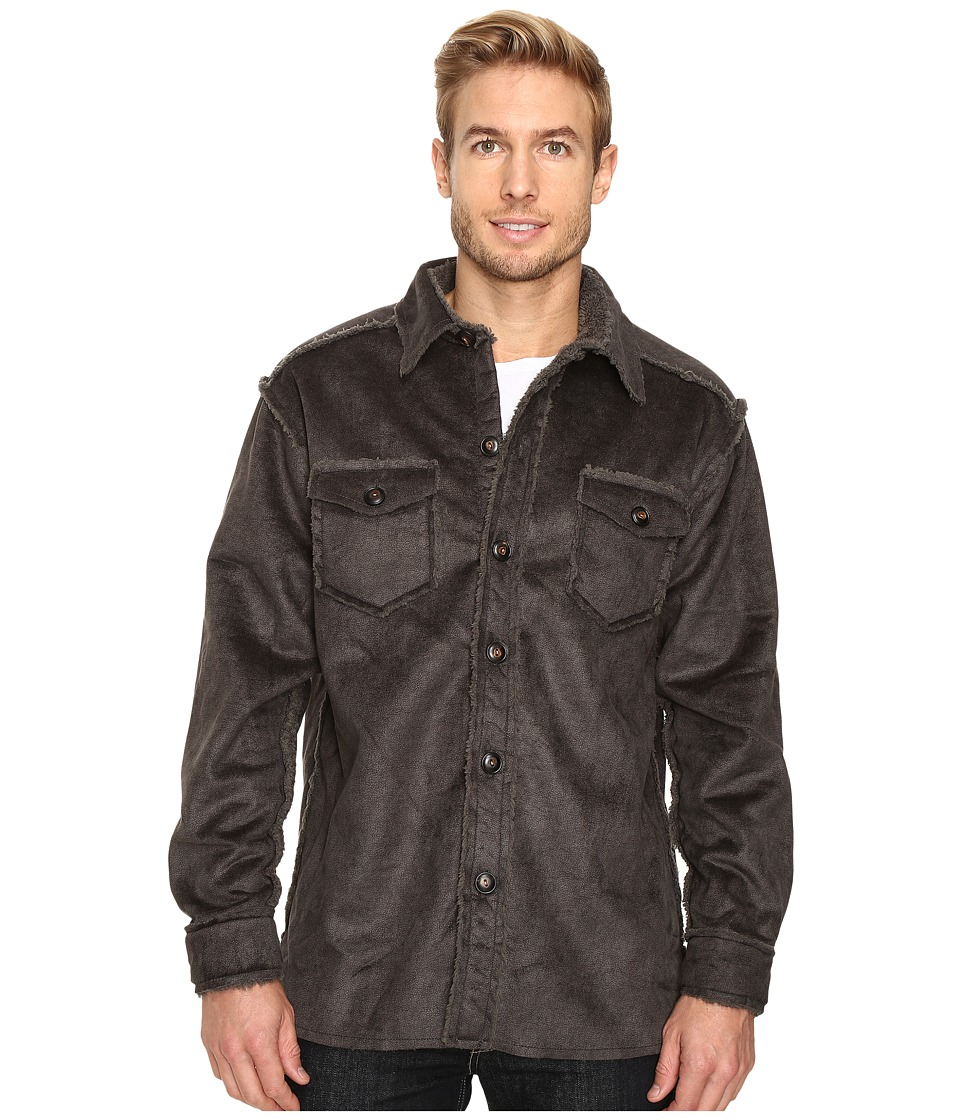 True Grit - Pebble Sueded Button Jacket (Vintage Olive) Men's Coat