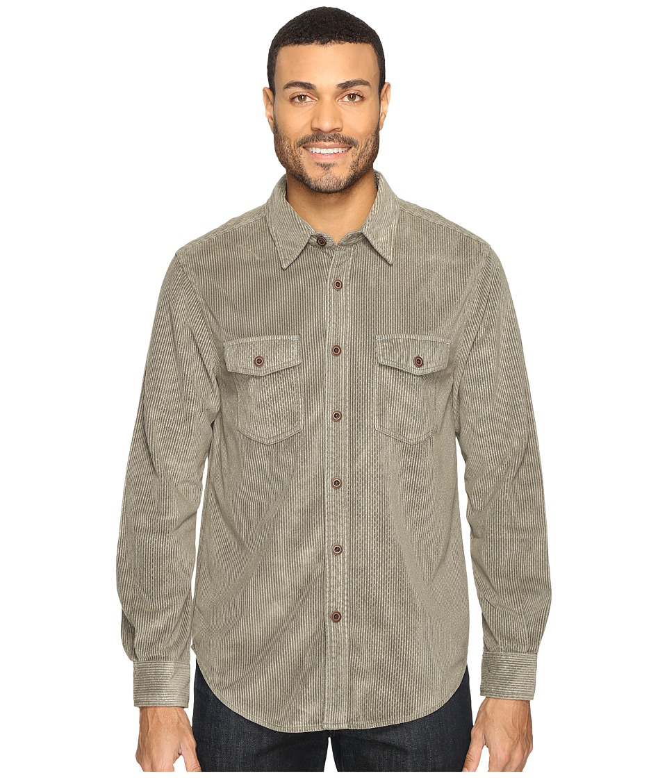 True Grit - Softest Sueded Cord Long Sleeve Two-Pocket Shirt (Sage) Men's Clothing