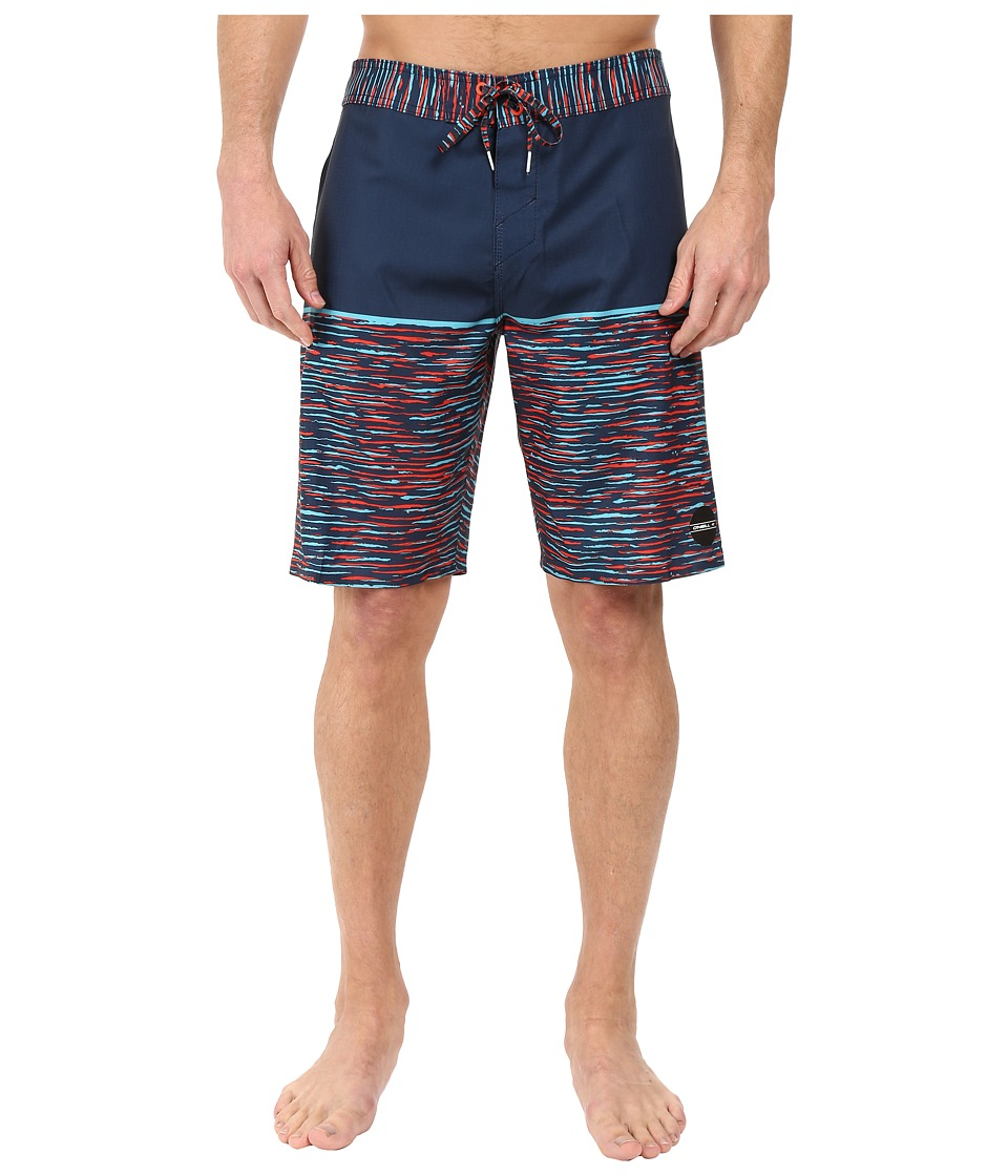 O'Neill - Hyperfreak Streaming Boardshorts (Navy) Men's Swimwear