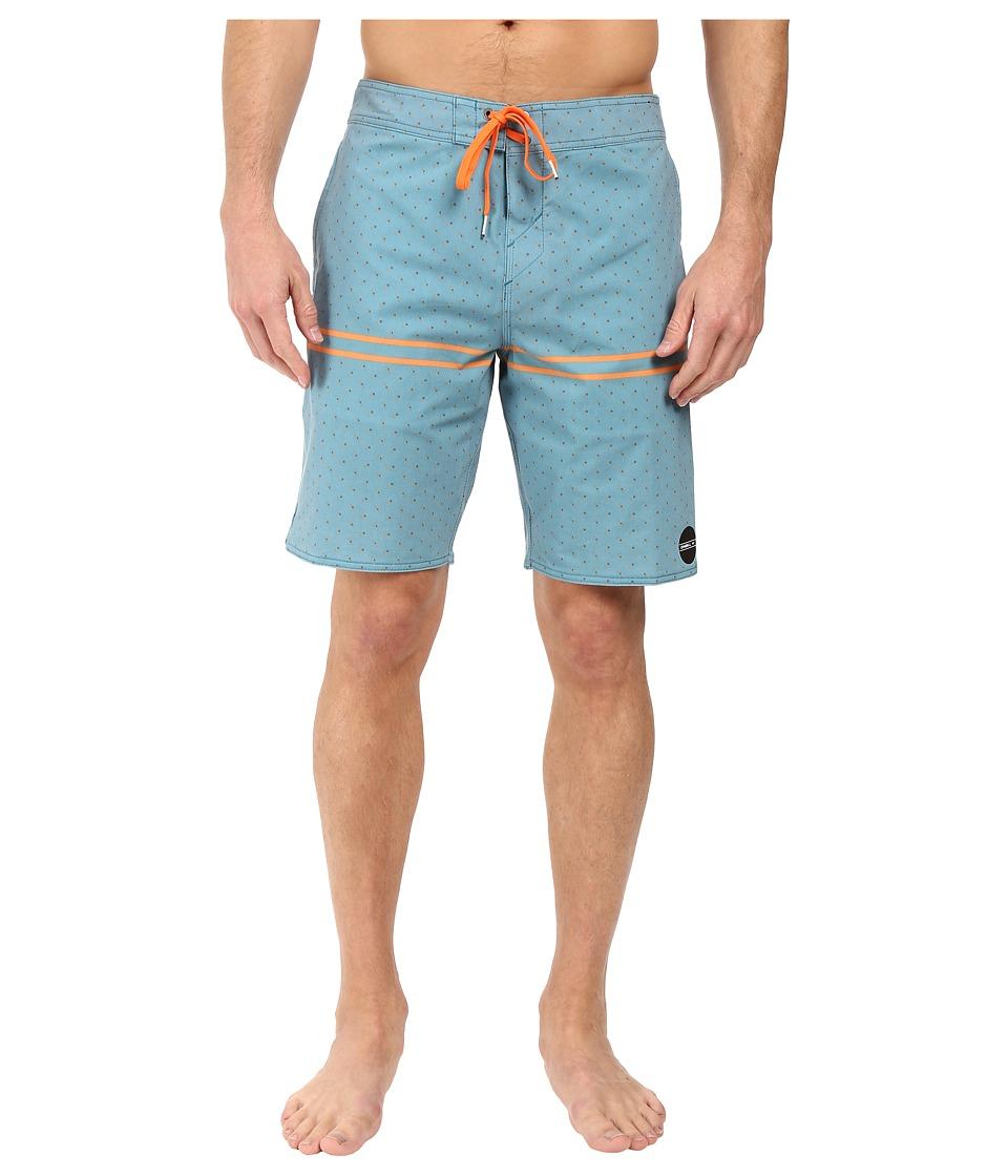 O'Neill - Hyperfreak Astoria Boardshorts (Teal) Men's Swimwear