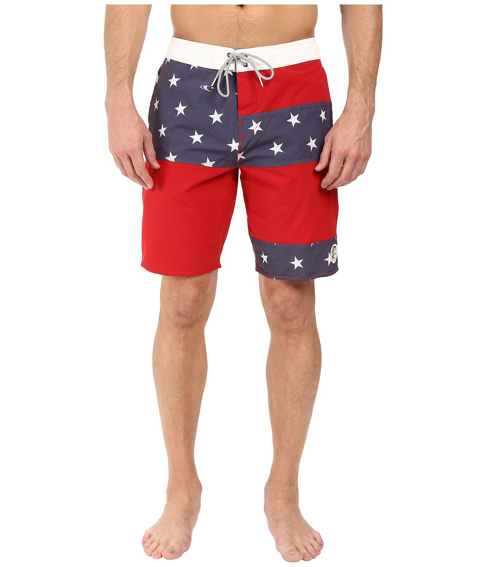 O'Neill - Freedom Boardshorts (Red/White/Blue) Men's Swimwear