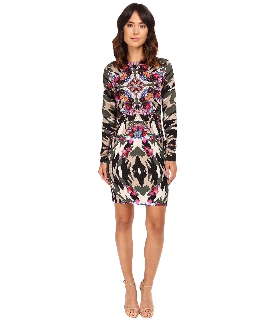 Nicole Miller Kaleidoscope Camp Loops Dress (Multi) Women