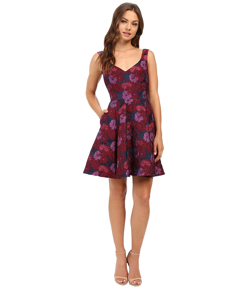 Nicole Miller - Wildflowers Jacquard Fit and Flare Dress (Multi) Women's Dress