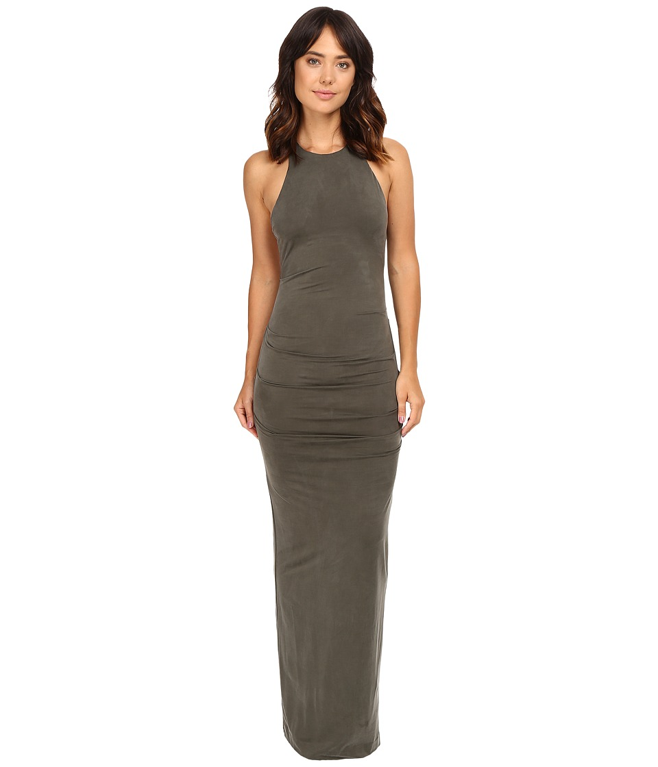 Nicole Miller - Adel Cupro Cross Back Gown (Elephant) Women's Dress