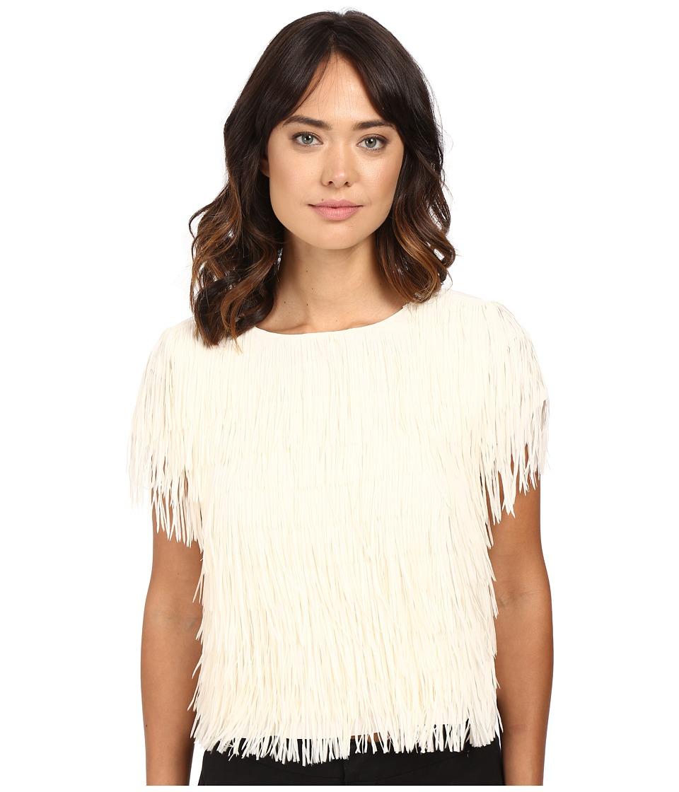 Nicole Miller - Franky Fringe Tee (Cream) Women's T Shirt