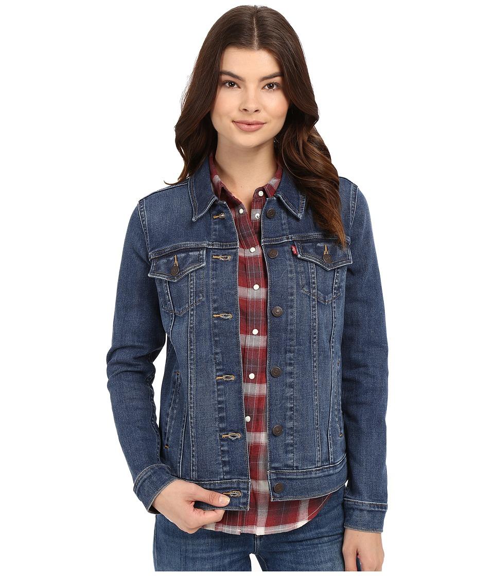 Levi's(r) Womens - Boyfriend Trucker Jacket (Crystal Night) Women's Coat