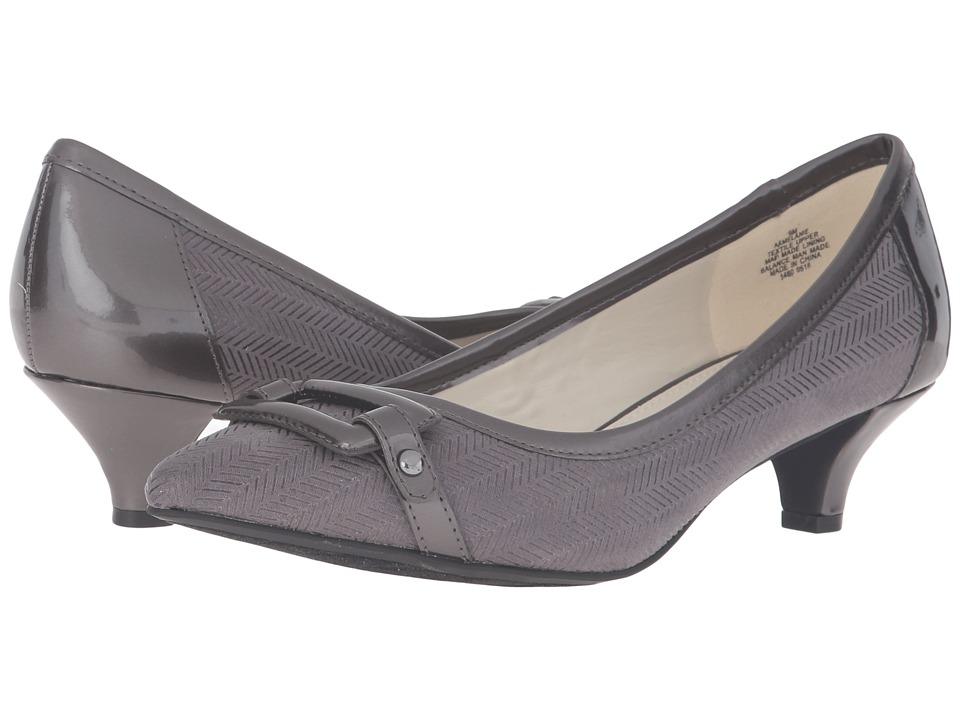 Anne Klein - Melanie (Dark Grey/Dark Grey Fabric) Women's 1-2 inch heel Shoes