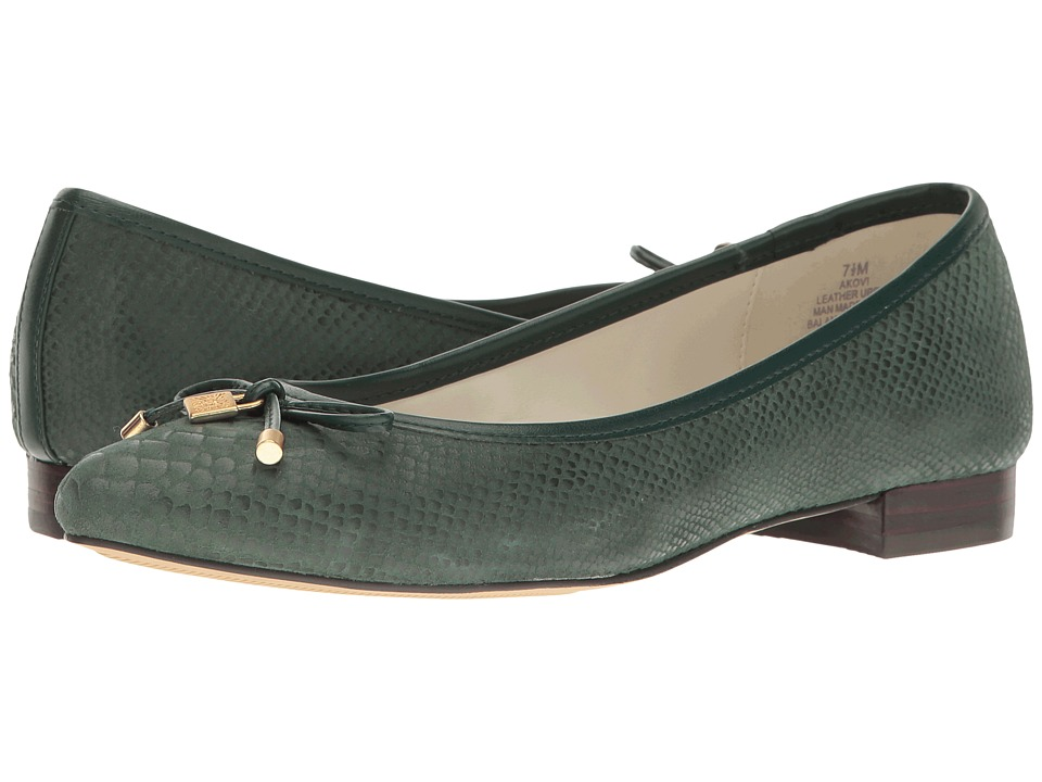 Anne Klein - Ovi (Medium Green/Dark Green Reptile) Women's Flat Shoes