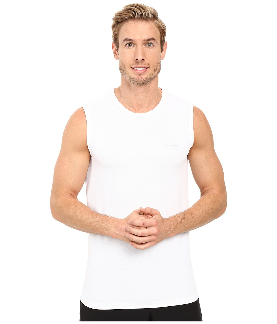 Columbia - Performance Mesh Muscle T-Shirt (White) Men's Sleeveless