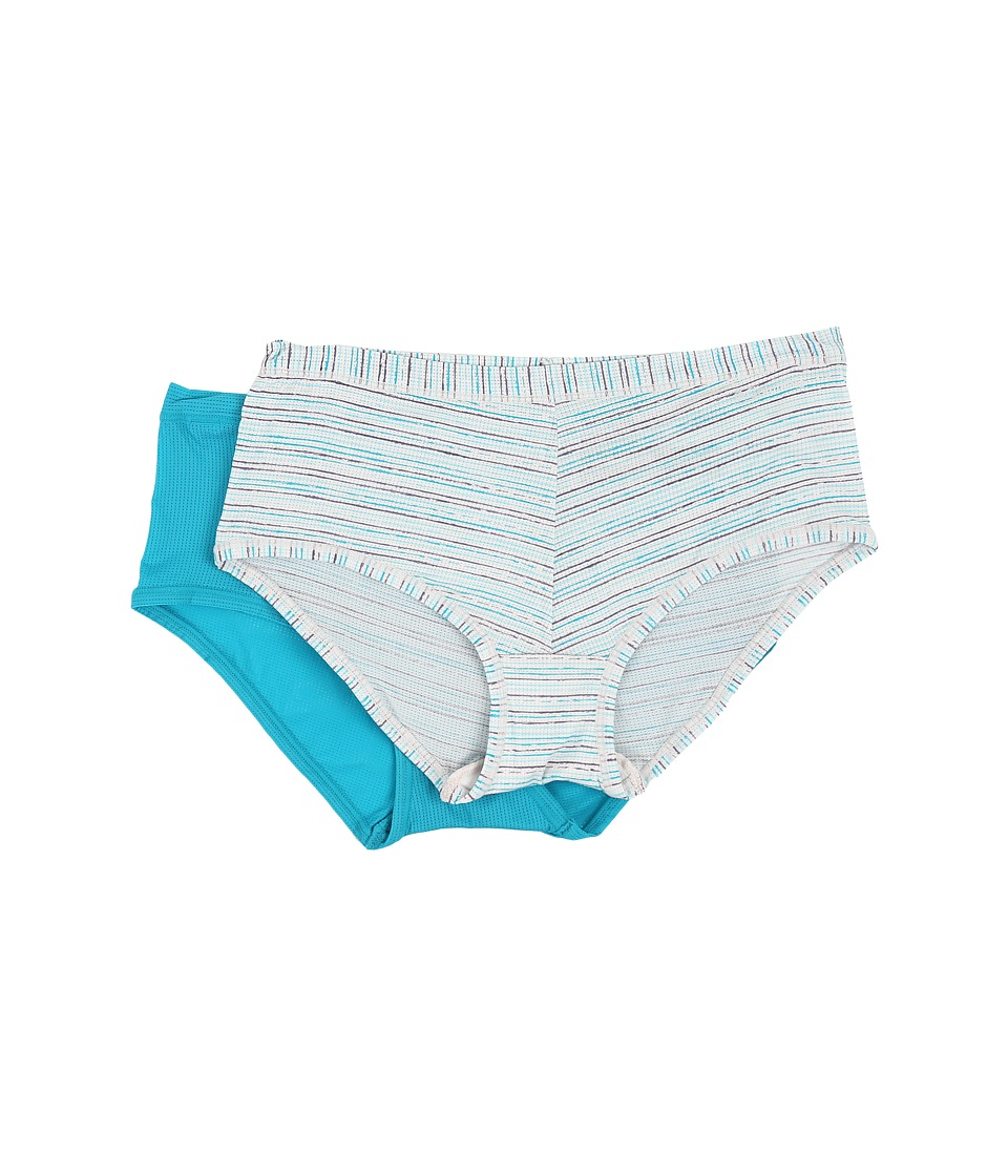 Columbia - Micro Mesh Boyshorts 2-Pack (Capri Stripe/Capri Breeze) Women's Underwear