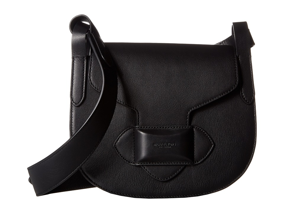 Michael Kors - Daria Small Crossbody Saddle Bag (Black) Cross Body Handbags