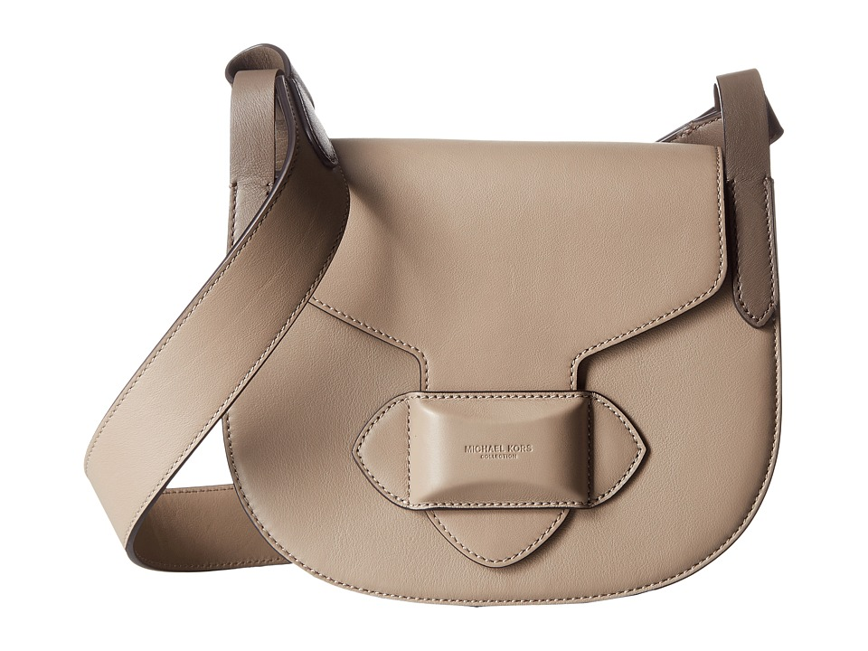 Michael Kors - Daria Small Crossbody Saddle Bag (Dark Taupe) Cross Body Handbags