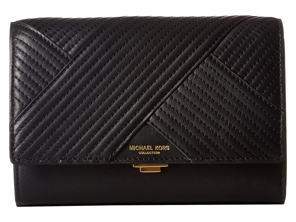 Michael Kors - Yasmeen Small Clutch (Black) Clutch Handbags
