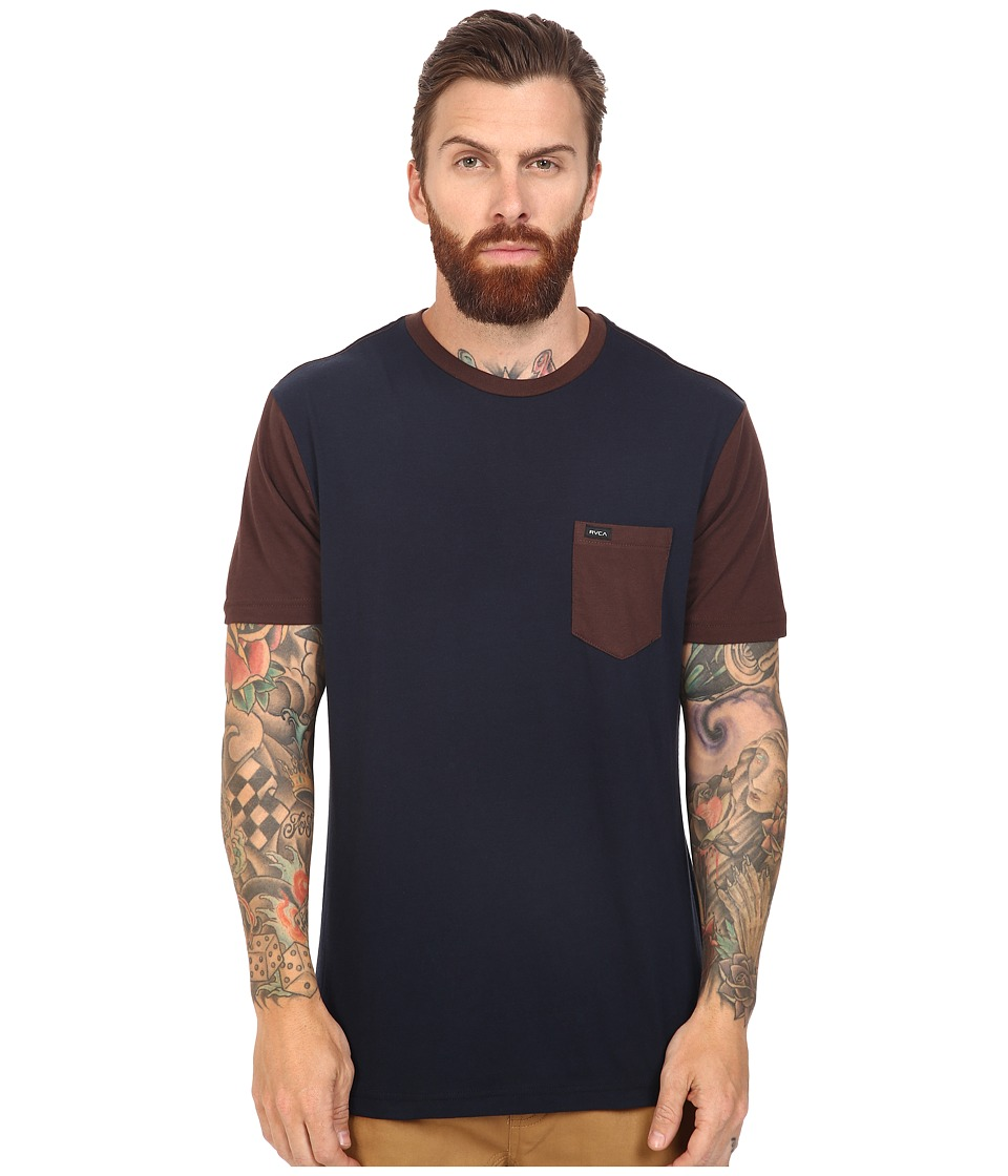 RVCA - Change Up Crew (Mid Brown) Men's Short Sleeve Pullover