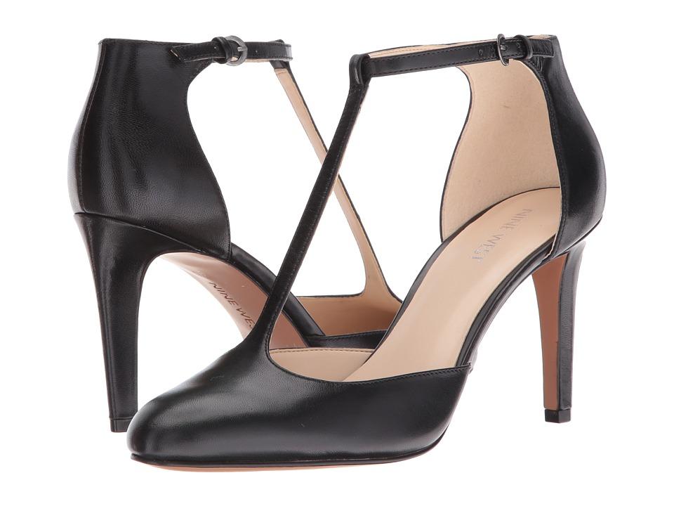 Nine West - Halinan (Black Leather) High Heels