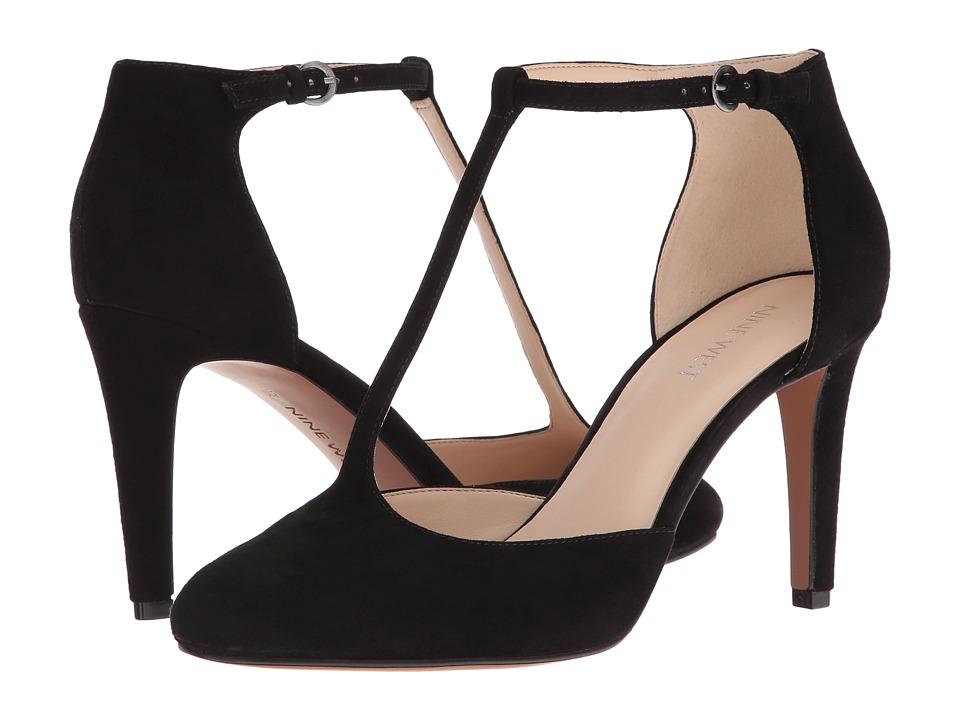Nine West - Halinan (Black Suede) High Heels