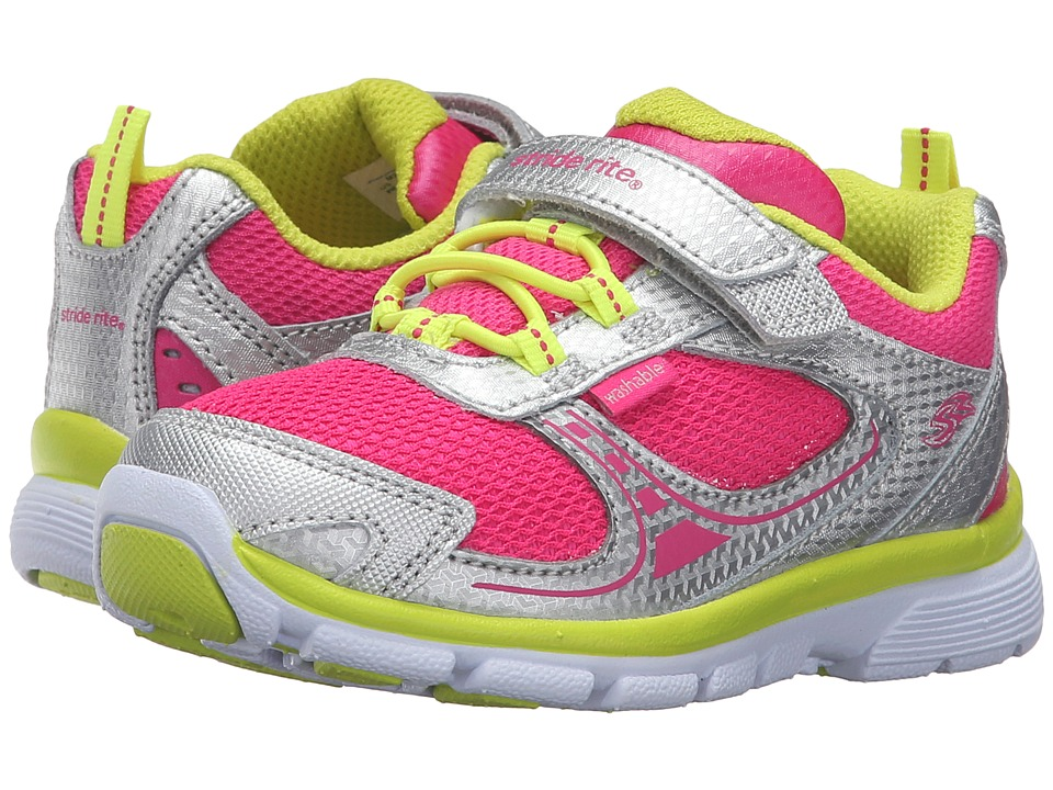Stride Rite - Made 2 Play Mavis (Toddler) (Silver/Pink) Girl's Shoes