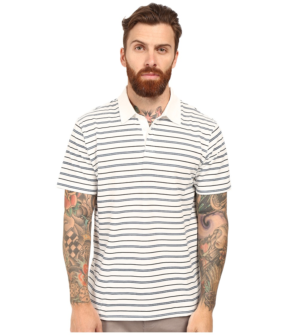 RVCA - Sure Thing Stripe Polo (Dark Denim) Men's Short Sleeve Knit
