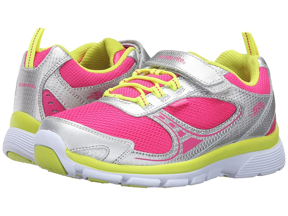Stride Rite - Made 2 Play Mavis (Little Kid) (Silver/Pink) Girl's Shoes