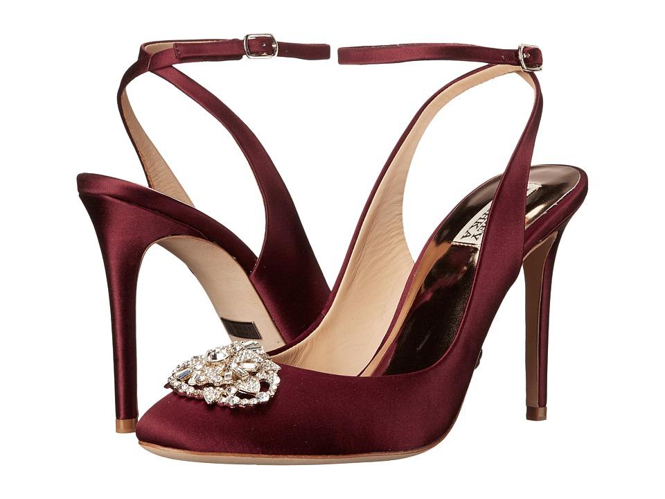 Badgley Mischka - Darwyn (Crimson Red Satin) Women's Dress Sandals