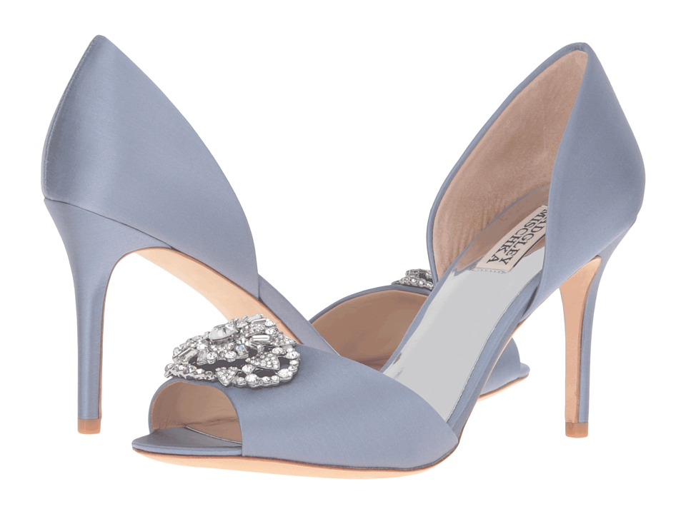 Badgley Mischka Dana (Blue Haze Satin) Women