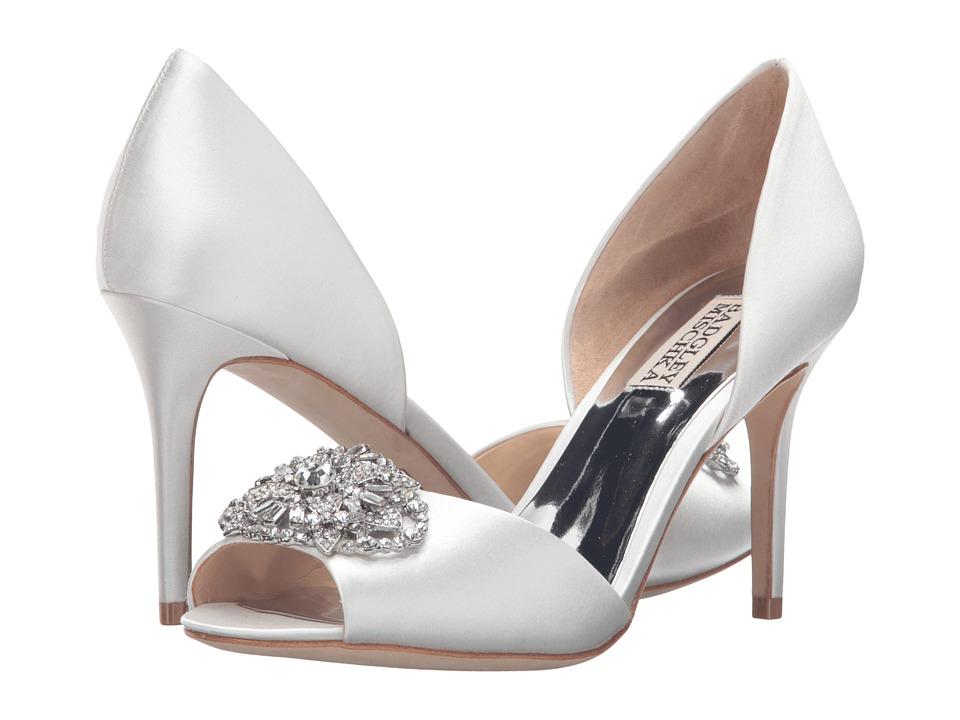 Badgley Mischka - Dana (White Satin) Women's Dress Sandals
