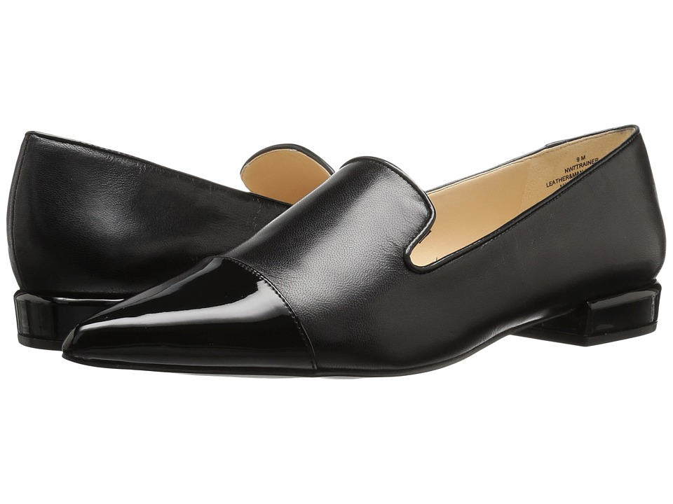 Nine West - Trainer (Black/Black Leather) Women's Shoes