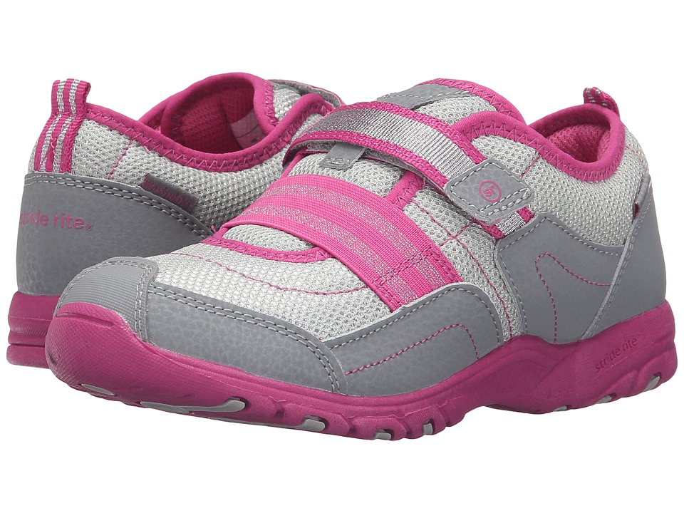 Stride Rite - Made 2 Play Felicia (Little Kid) (Grey/Pink) Girl's Shoes