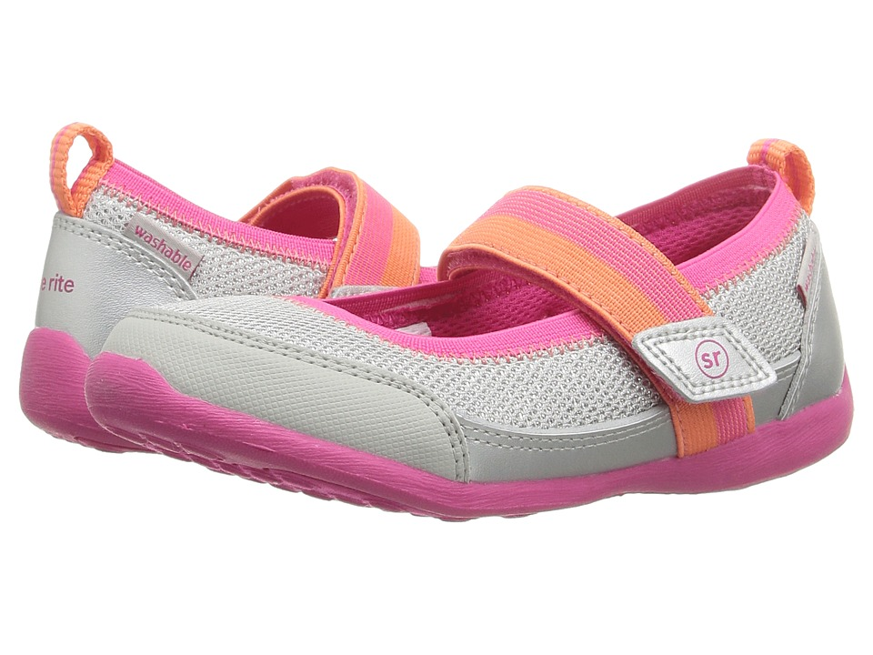 Stride Rite - Made 2 Play Tilly (Toddler) (Silver) Girl's Shoes
