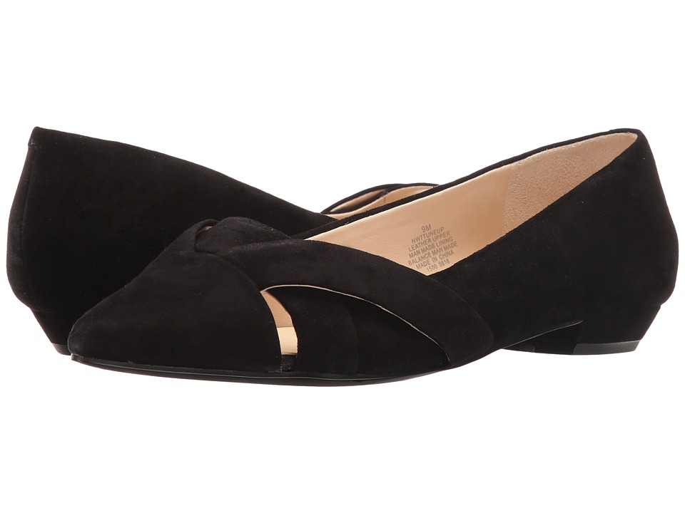 Nine West Tuneup Black Suede Womens Shoes