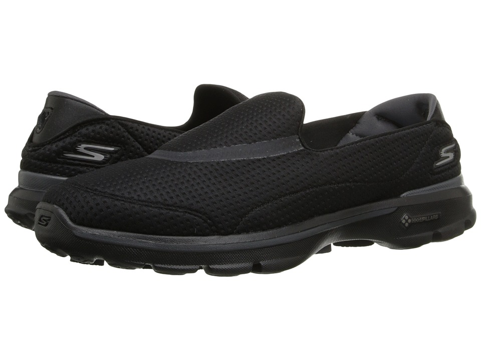 SKECHERS Performance - Go Walk 3 - Unfold (Black) Women's Flat Shoes