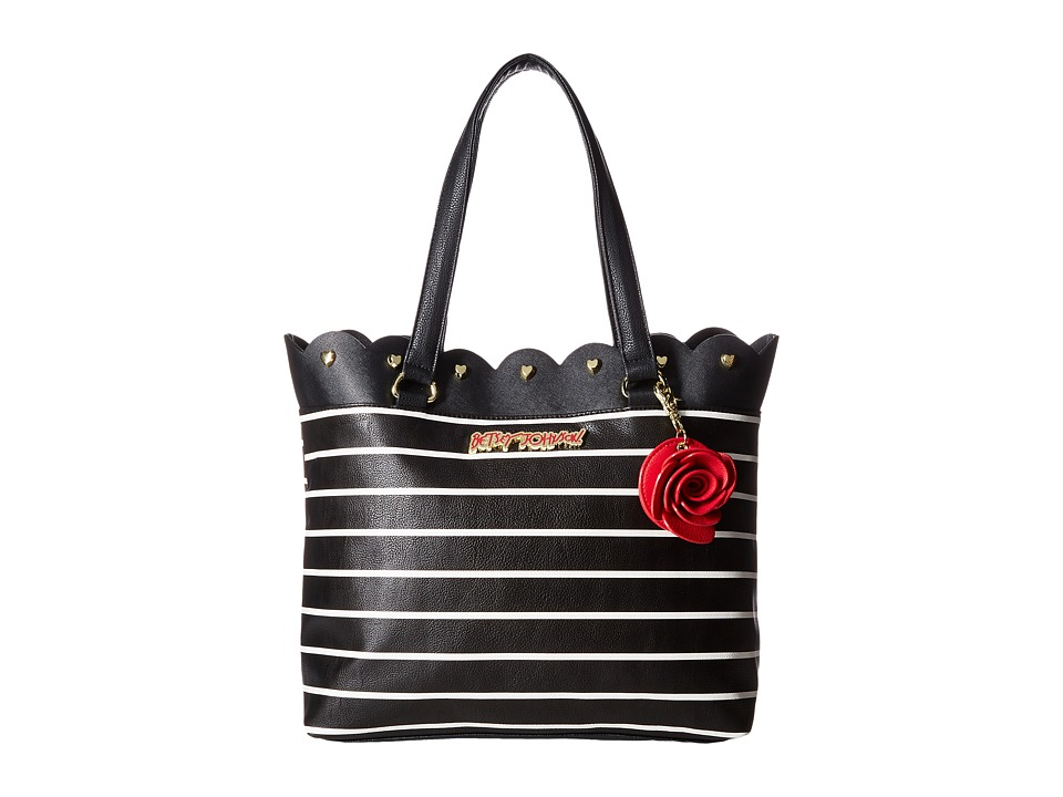 Betsey Johnson - Bag in a Bag Tote (Stripe) Tote Handbags