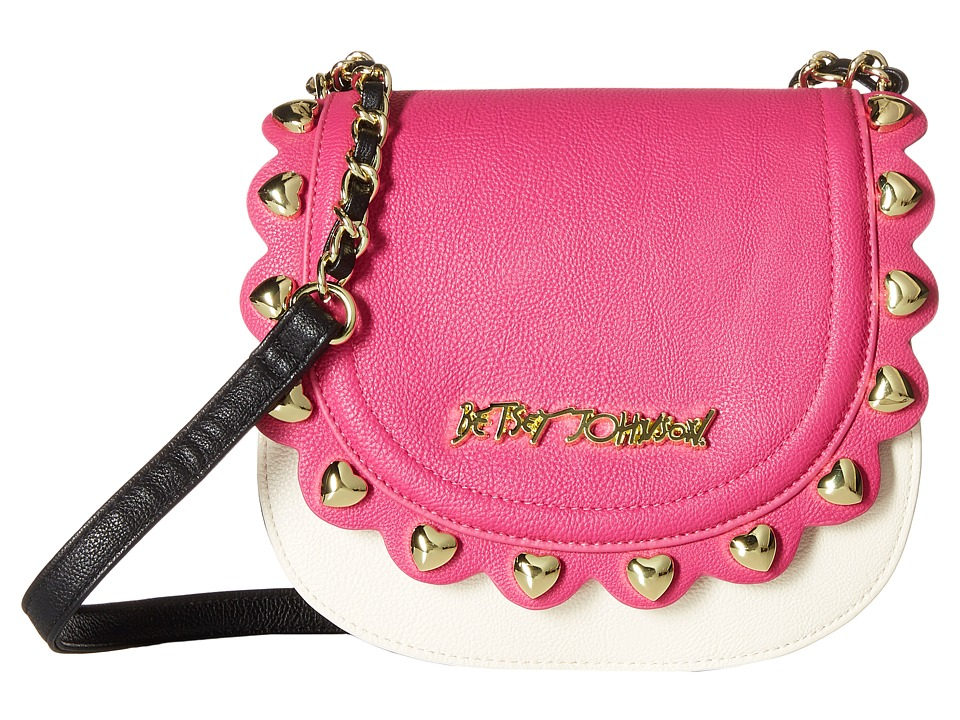 Betsey Johnson - Wavy Days Crossbody (Fuchsia) Cross Body Handbags
