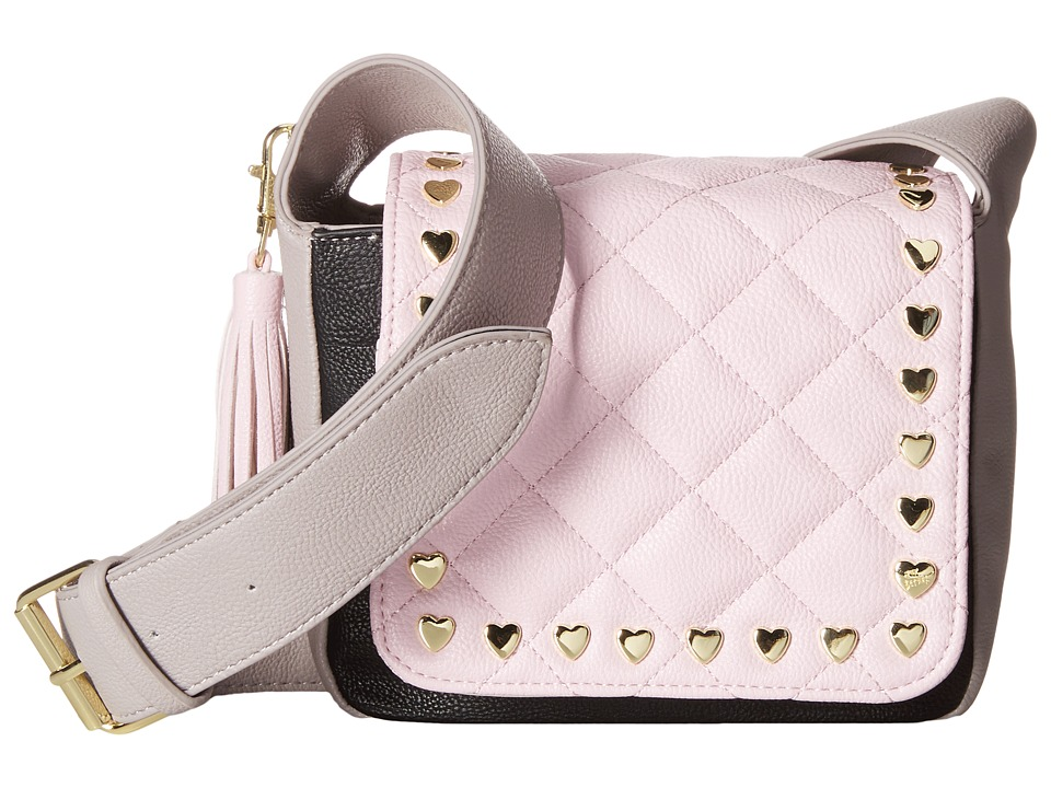 Betsey Johnson - Mini Saddle (Grey/Pink) Handbags