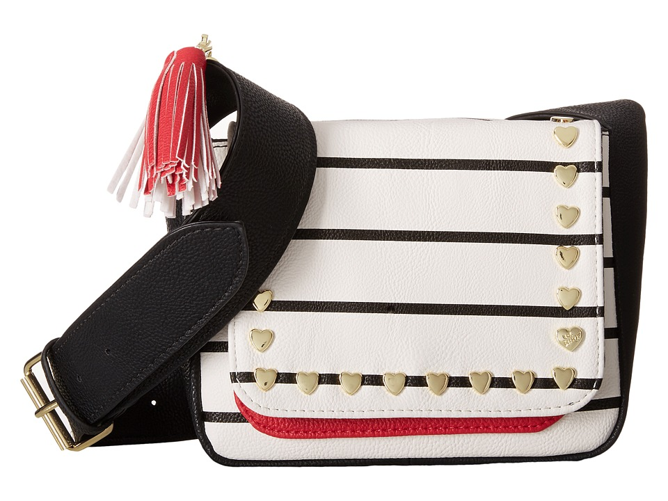 Betsey Johnson - Mini Saddle (Black/White) Handbags