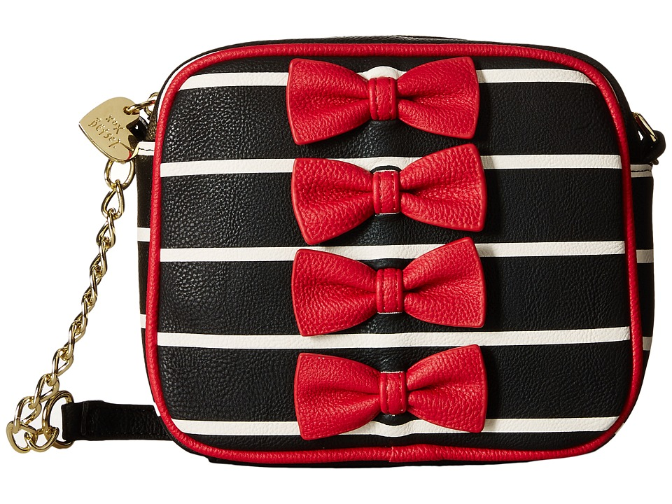 Betsey Johnson - Petite Chic Crossbody (Red/Black) Cross Body Handbags