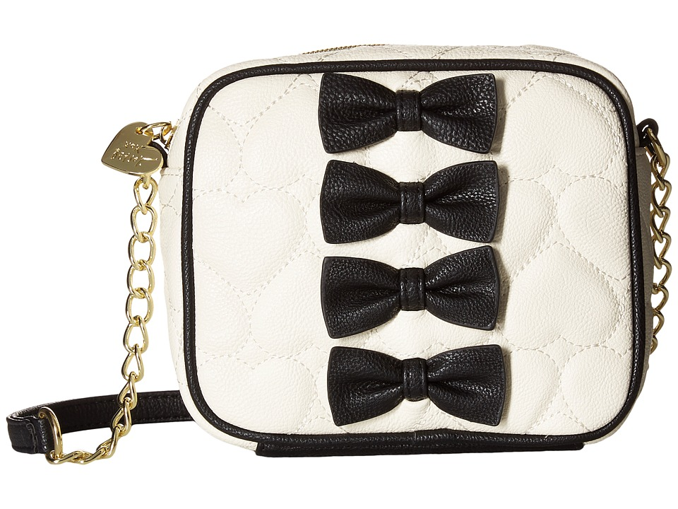 Betsey Johnson - Petite Chic Crossbody (Cream/Black) Cross Body Handbags