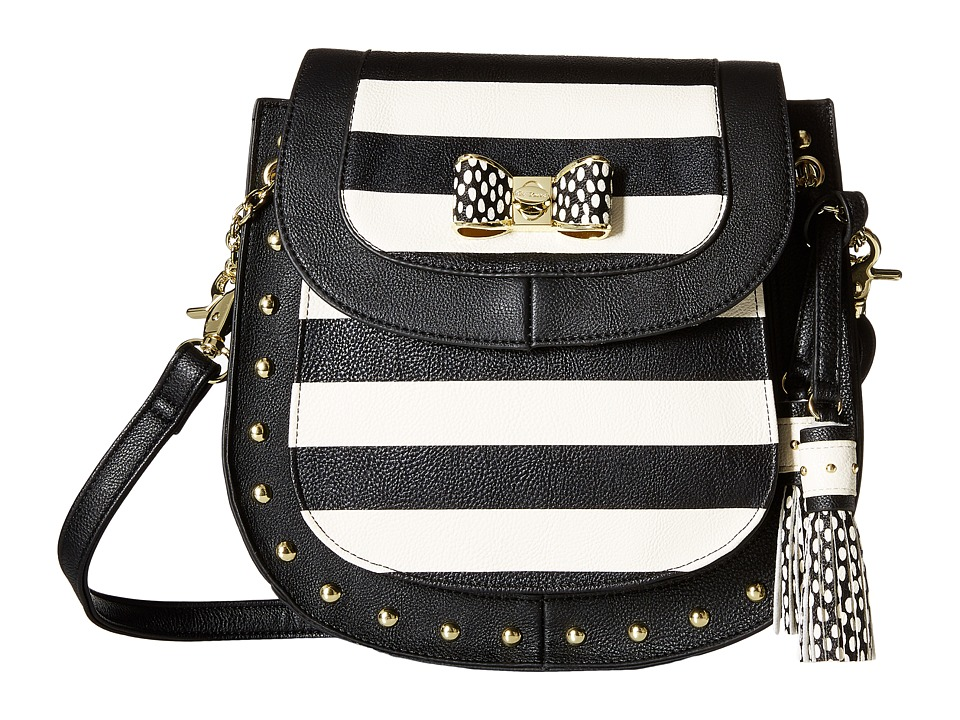 Betsey Johnson - Saddle Crossbody (Stripe) Cross Body Handbags