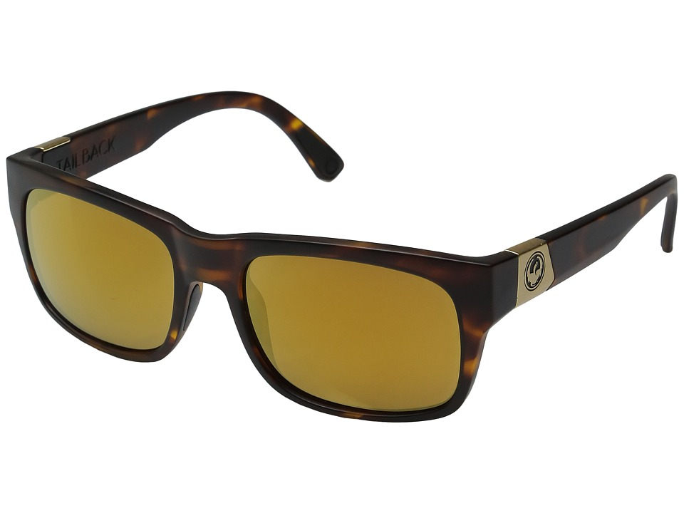 Dragon Alliance - Tailback (Matte Tortoise/Gold Ion) Sport Sunglasses