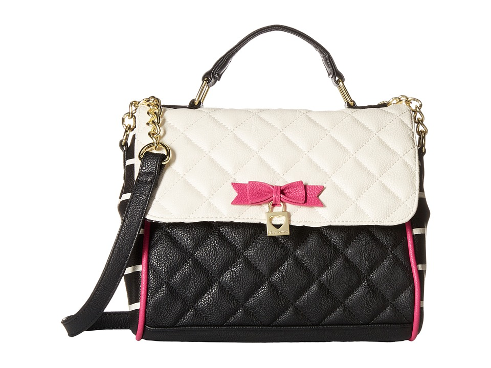 Betsey Johnson - Top-Handle Crossbody (Cream) Top-handle Handbags
