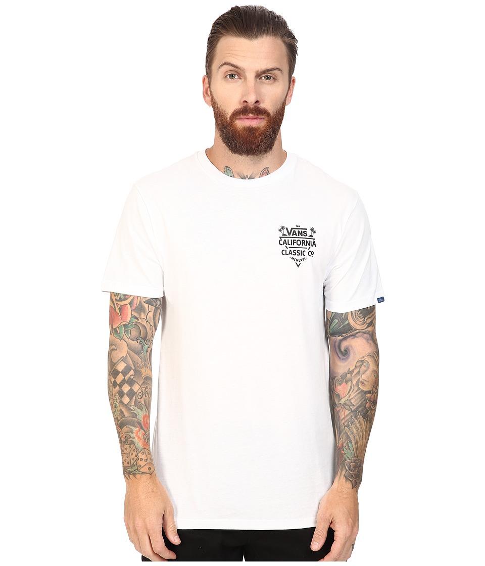 Vans - Cali Classic Company (White) Men's T Shirt