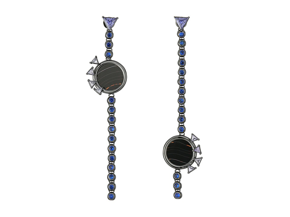 Eddie Borgo - Voyager Drop Earrings (Gunmetal) Earring