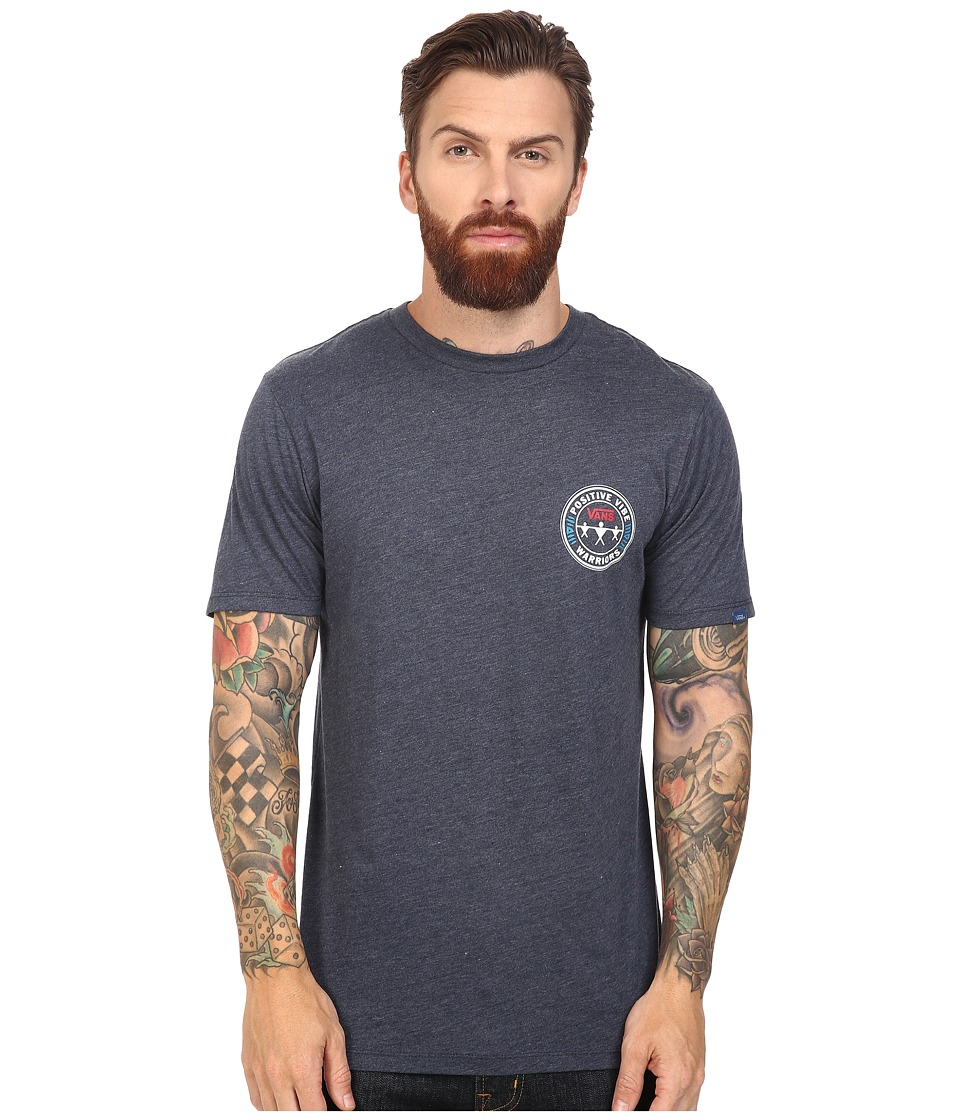 Vans - Positive Vibe Warriors Tee (Navy Heather) Men's T Shirt