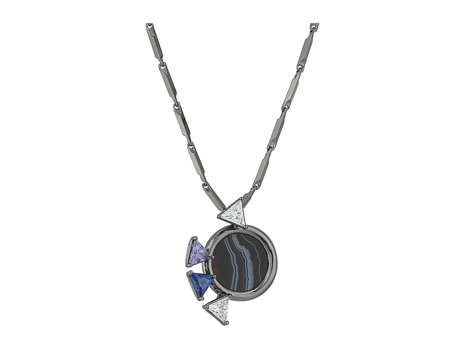 Eddie Borgo - Europa Mini Pendant (Gunmetal) Necklace