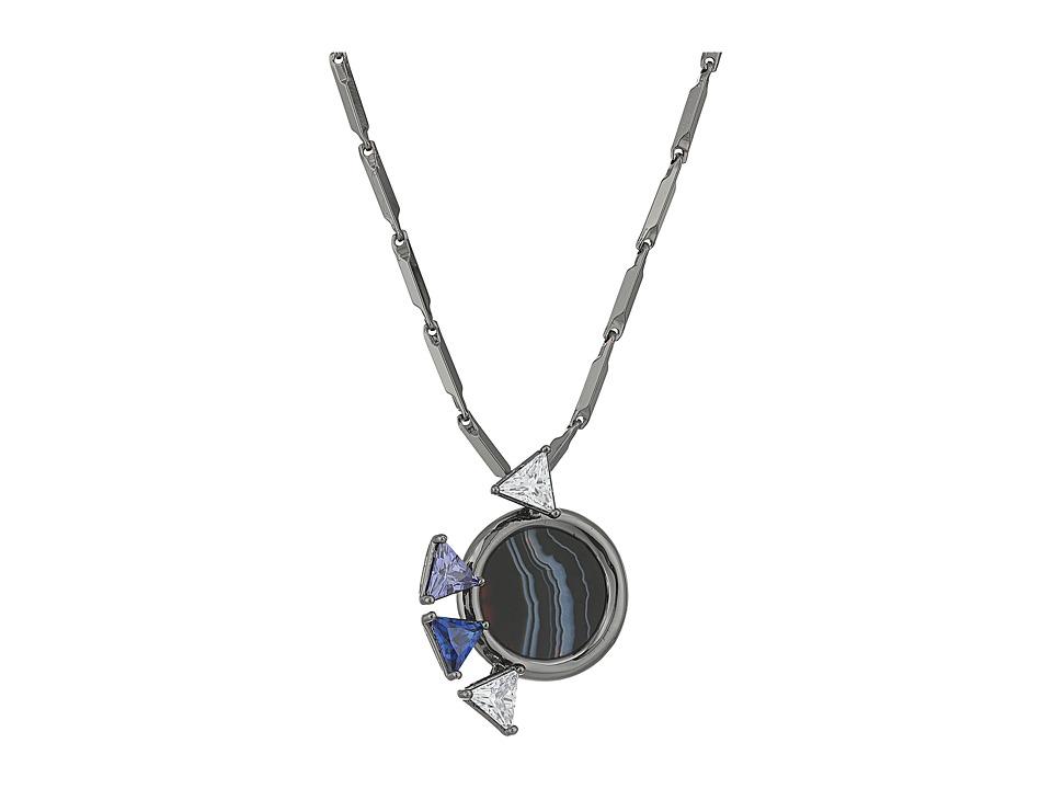 Eddie Borgo - Europa Mini Pendant (Gunmetal) Necklace