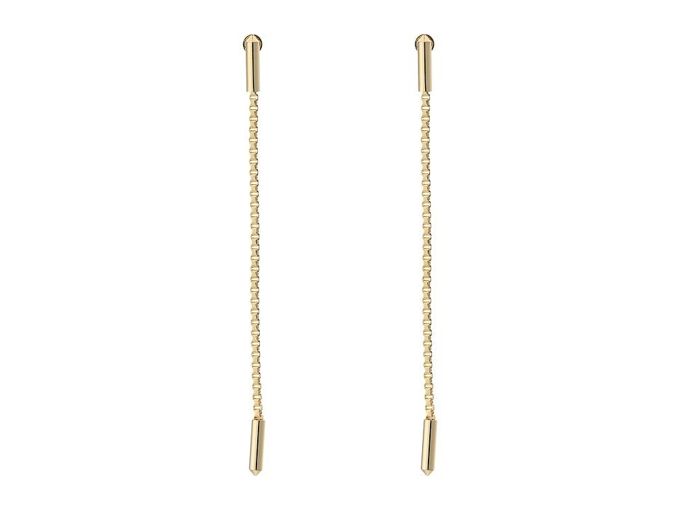 Eddie Borgo - Idle Line Earrings (Gold) Earring