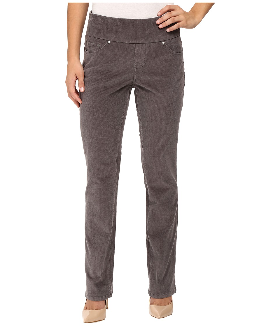 Jag Jeans Petite - Petite Peri Pull On Straight Wale Corduroy (Smokey Grey) Women's Casual Pants