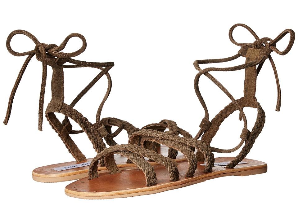 Steve Madden - Dorinda (Green Suede) Women's Sandals