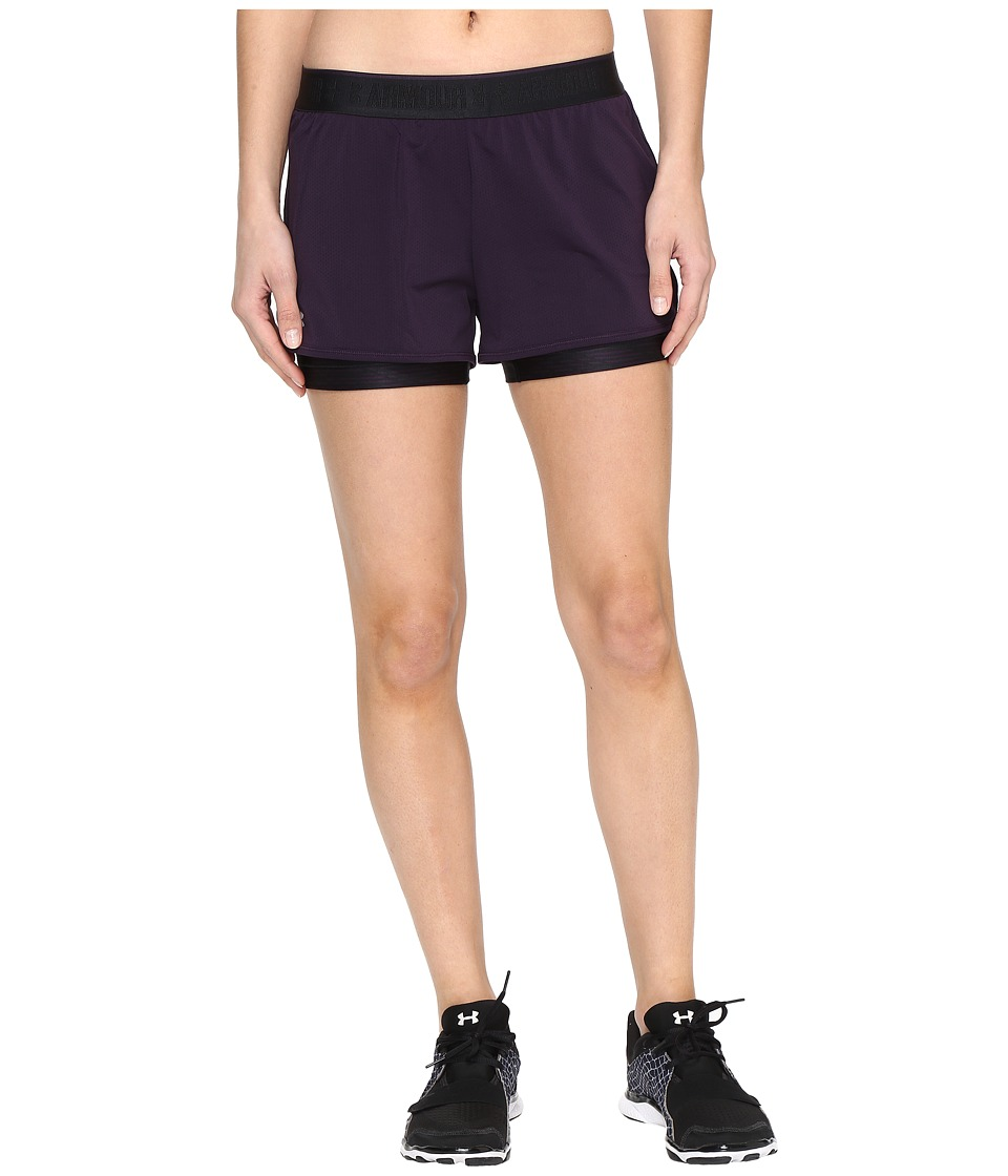 Under Armour - UA HeatGear(r) Armour 2-in-1 Printed Shorty (Imperial Purple/Imperial Purple) Women's Shorts