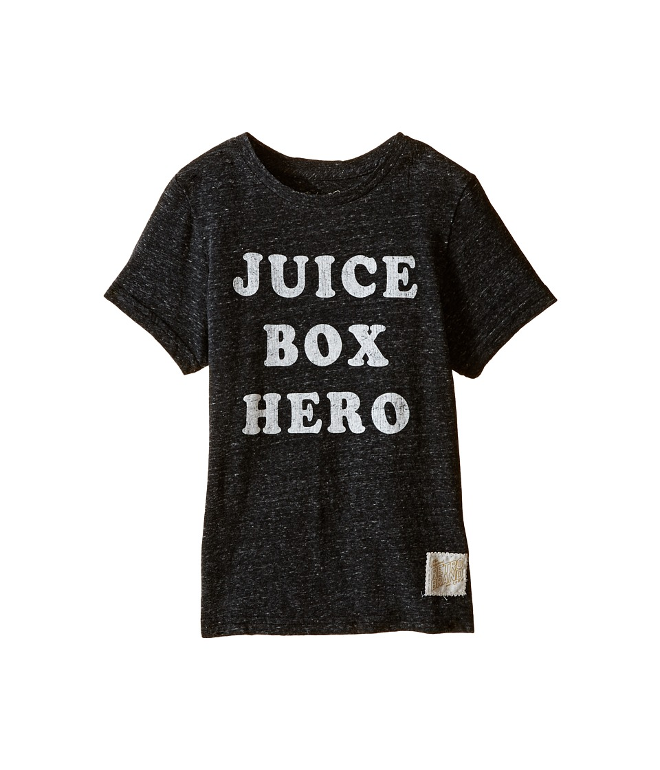 The Original Retro Brand Kids - Juice Box Here Streaky Tri-Blend Tee (Little Kids/Big Kids) (Streaky Black) Boy's T Shirt